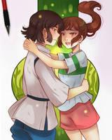 Chihiro and Haku by larienne