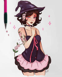 Sakura Witch by larienne