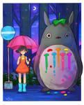 Totoro by larienne