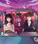 In the car by larienne