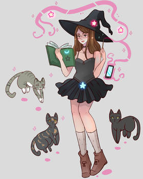 Witch and the cats