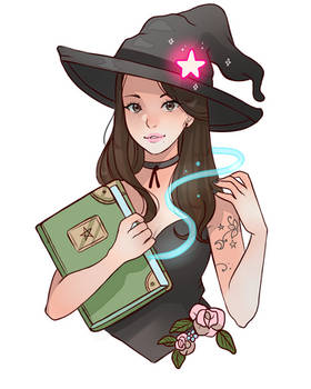 Witchy bookworm
