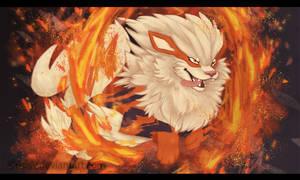 Arcanine used Flare Blitz! by CrisisV
