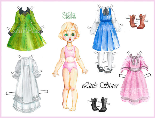 Captivating Little Sister Paper Doll Dress Up Sample By XO OrangeART ...