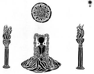 Altar (between two pillars)