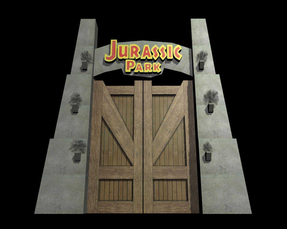 Jurassic Park Main Gate By Asarav On Deviantart