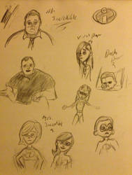 Incredibles Quick Sketches