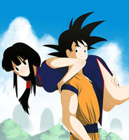 Son Goku and Chichi by Bloomseed