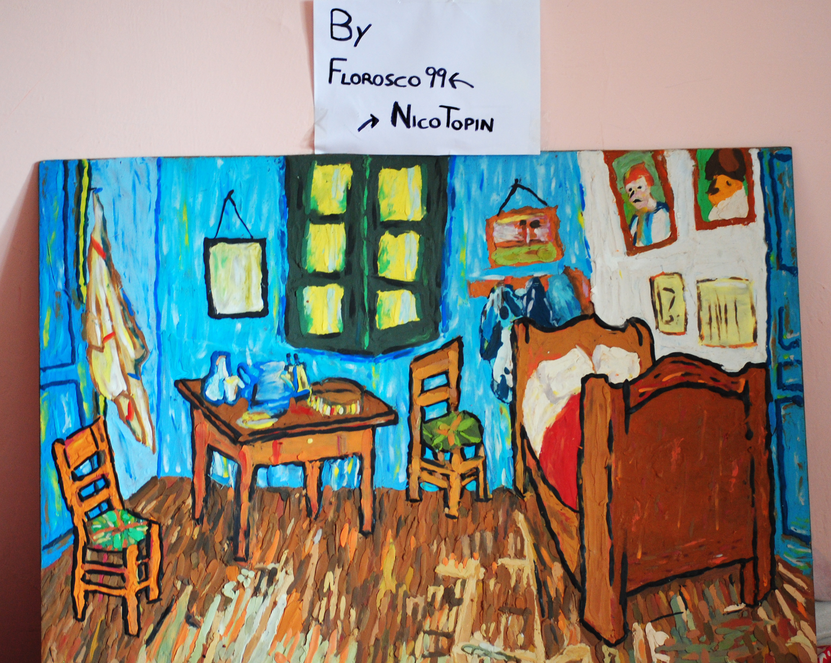 bedroom in arles (1889)-van gogh in plasticineflorosco99 on
