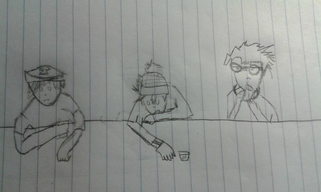 3 men walk into a bar by Epicalmeow