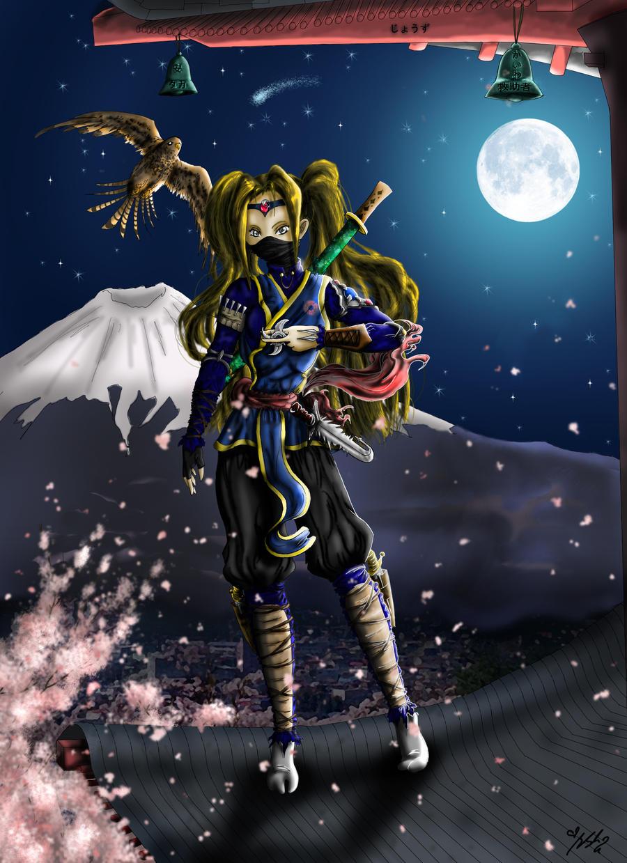 Ninja on Rooftop by YummingDoe4