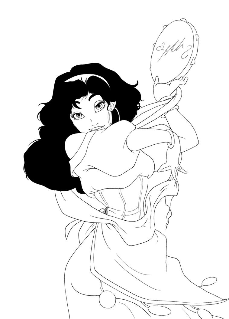 Esmeralda Lineart [COM] by YummingDoe4