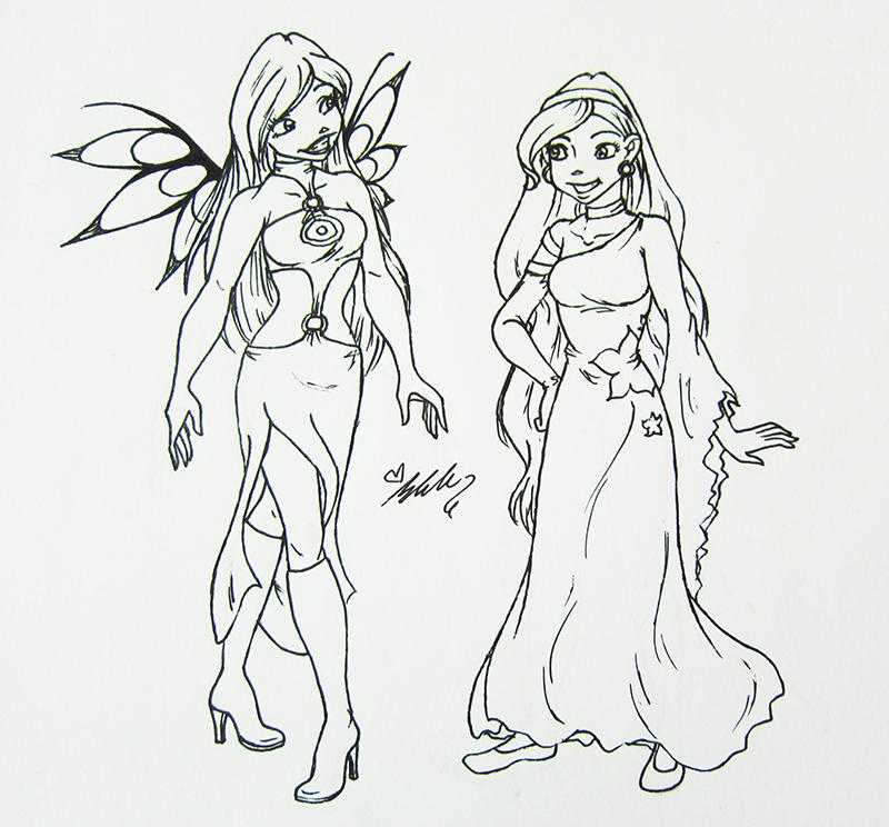 Cornelia and Alara - Traditional by YummingDoe4