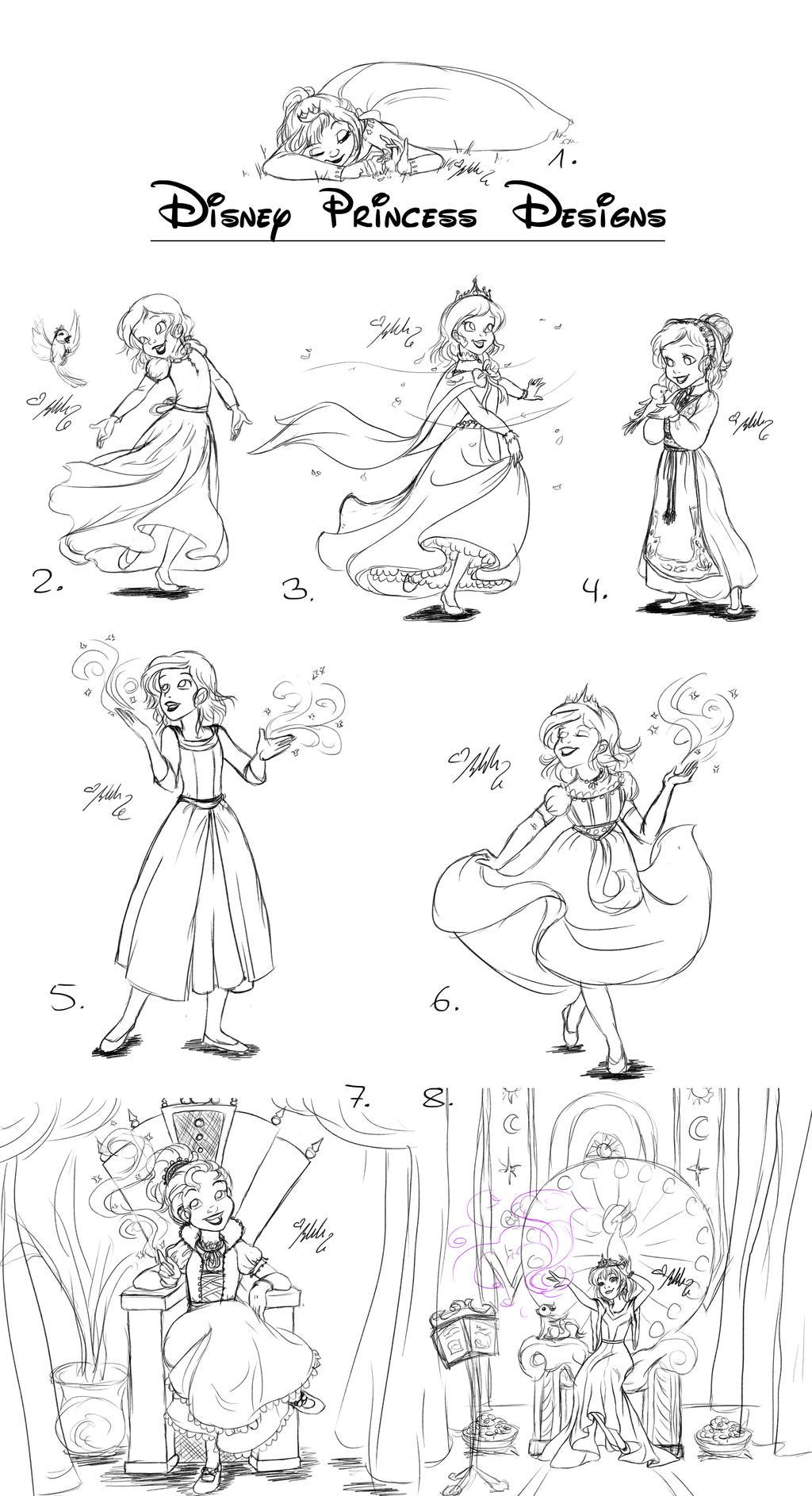 Disney Princess Designs by YummingDoe4