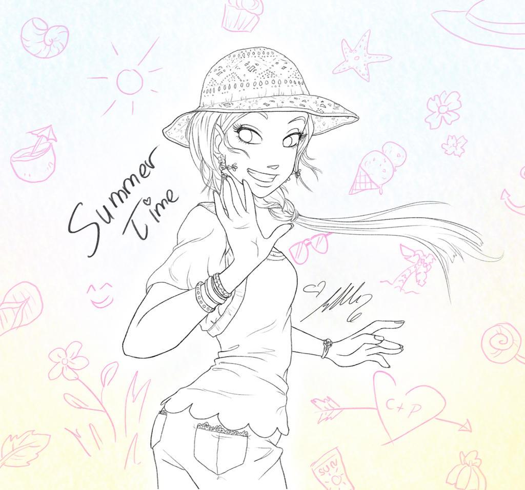 Cornelia Sketch - Summer Time by YummingDoe4