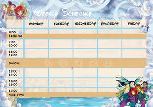 W.i.t.c.h. Time table - FREE