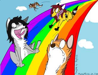 rainbow ad by MashaMissd
