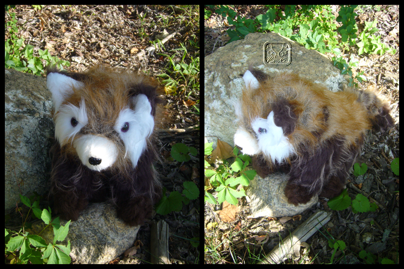 Sammy the Red Panda Plushie by VesteNotus