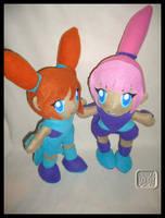 WarioWare: Kat + Ana Plushies by VesteNotus