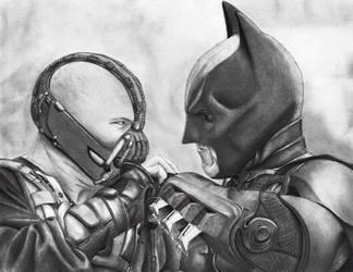 Batman and Bane by asemharun