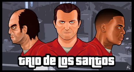 Trio de Los Santos by asemharun