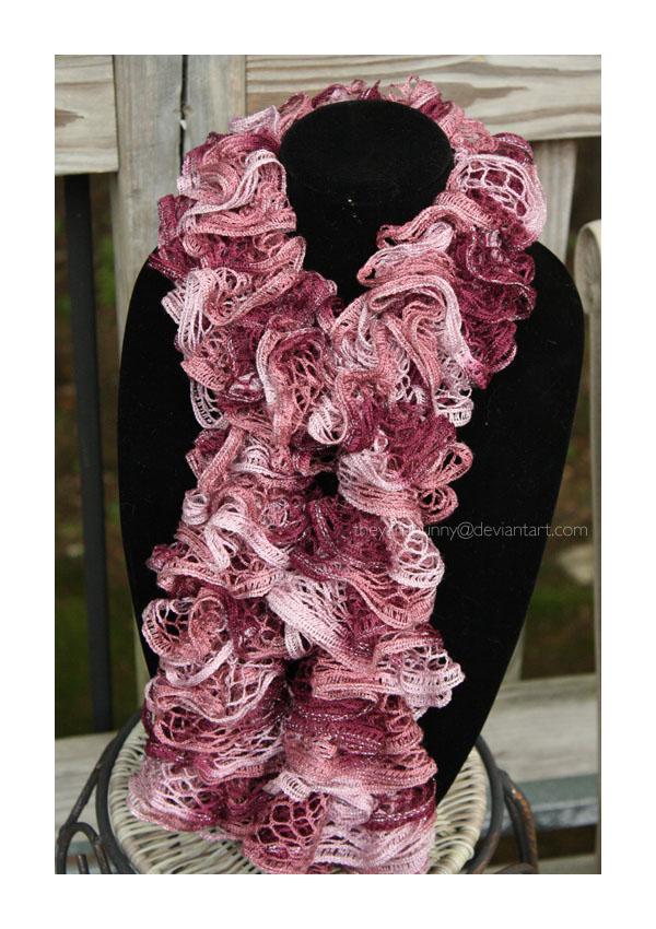 sundance frill garnet scarf - 02 by theyarnbunny