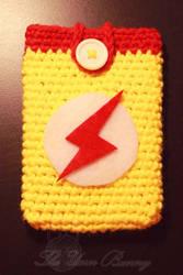 Kid Flash / Wally West Phone Cozy by theyarnbunny