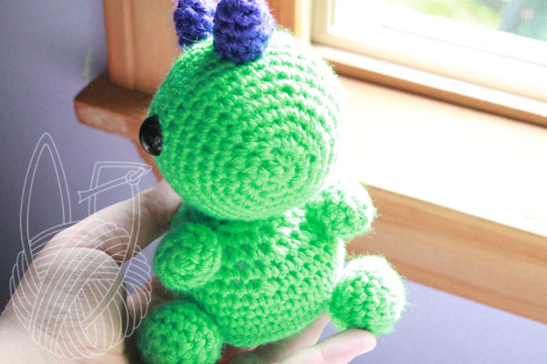 Melvin The Green Dinosaur - For Sale On Etsy by theyarnbunny