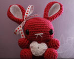 Pink Valentine's Day Bunny - for sale on Etsy