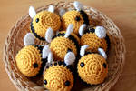 Golden Bumble Bees ~ for sale on Etsy