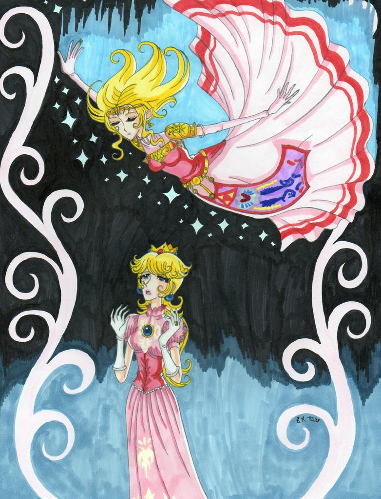 Zelda Falling by ArtsyVana