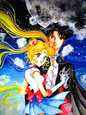 Sailor Moon x Tuxedo Mask by ArtsyVana