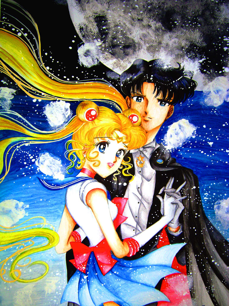 Sailor Moon x Tuxedo Mask by ArtsyVana