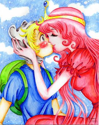 Finn x Bubblegum Kiss by ArtsyVana