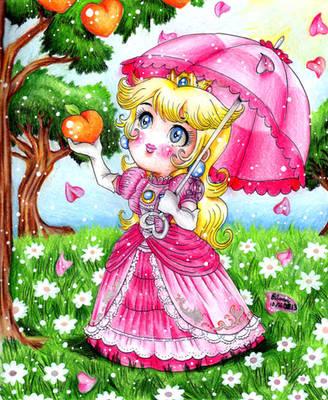 The Princess and The Peach Tree by ArtsyVana