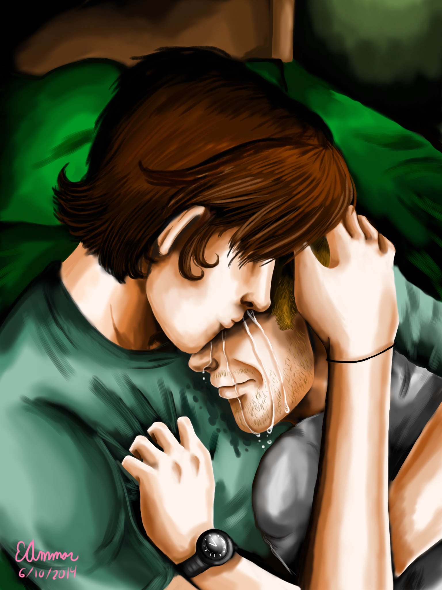 Supernatural - Brotherly Comfort by ArtsyVana