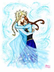 Elsa and Anna by ArtsyVana