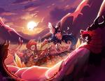 [fawning] sunset's gilded scene