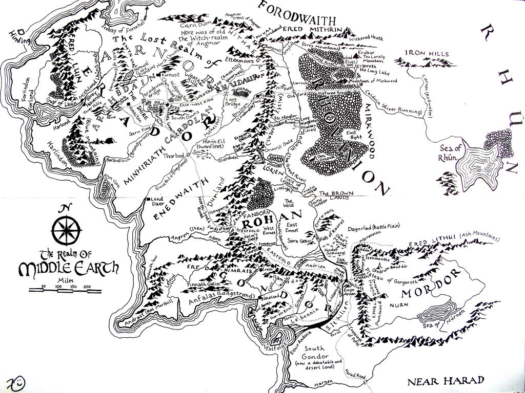 Middle Earth Map By Kilbeth On Deviantart