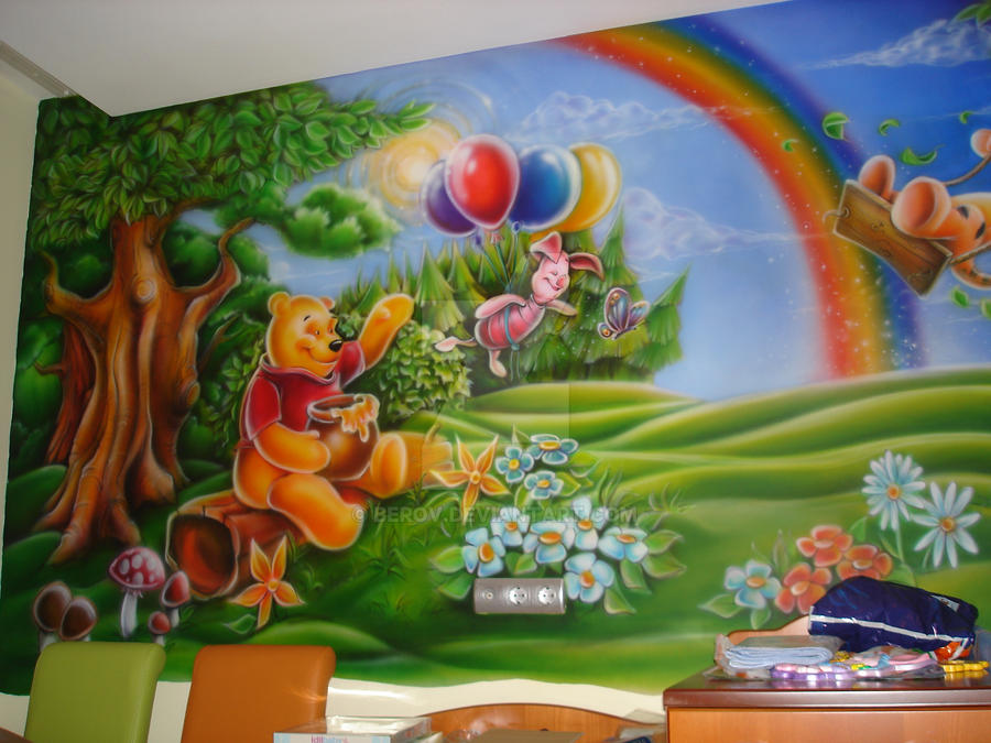 Winnie Pooh Wall 01 by berov on DeviantArt