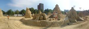 Burgas Sand Fest 2009 Panorama