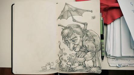 Erpip - The Gentle Gardener by berov