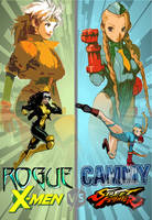 X-M Vs SF - Rogue/Cammy (Fan Art Concept) by Factorade