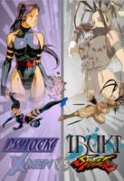 X-M Vs SF - Psylocke/Ibuki (Fan Art Concept) by Factorade