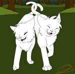 Warriors Cat Couple Lineart