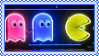 neon pacman stamp by bunsona