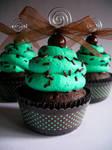 Choco-Mint Faux Cupcake - 01