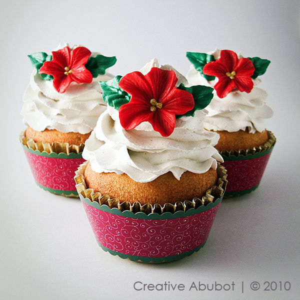Floral Christmas Cake Decorations
