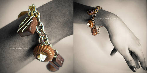 Chocolate Charms Bracelet by CreativeAbubot