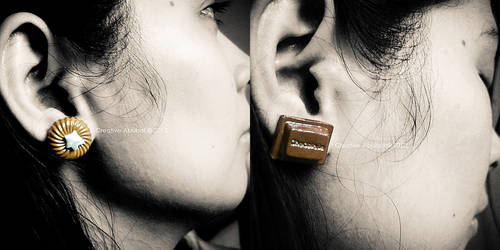 Chocolate Earrings 2 by CreativeAbubot